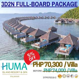 3D2N Huma Island Resort & Spa Full-Board Meals