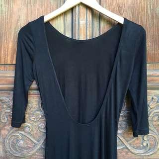 Top Shop backless ballerina maxi dress