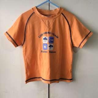 Chickeeduck Boys' Orange Shirt