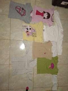 Baju kaos anak perempuan