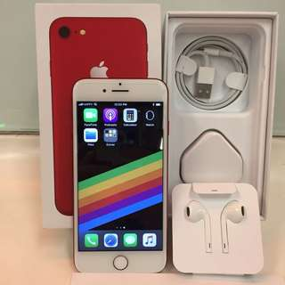 iPhone 7 特別版 128GB red product. Apple 新品同樣 有保養
