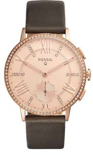 BRAND NEW FOSSIL Women's Q Gazer Hybrid Smart Leather Watch, 41mm