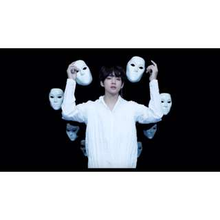 BTS V / Taehyung Inspired Singularity MV White Face Mask