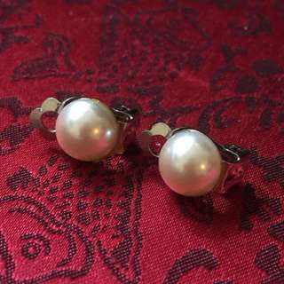 仿珍珠夾耳環 imitation pearl clip earrings