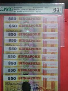 Singapore Polymer S50 Complete Set Prefix A to J