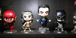 Justice League Cosbaby K.O. 6-piece set Bobble-Head Chibi Toy Collection