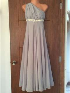 Gray Infinity Gown