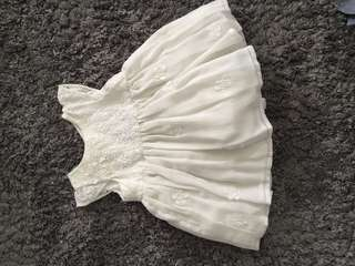 Mothercare White Dress (up to 3 months)
