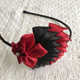Girls' Red / Black Hairband (3-9 years old)
