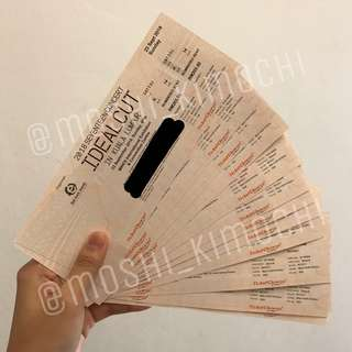 SEVENTEEN IDEAL CUT TICKET