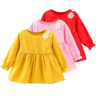 Baby Girls Toddler Embroidery Long Sleeve Princess Dress [PRE-ORDER]