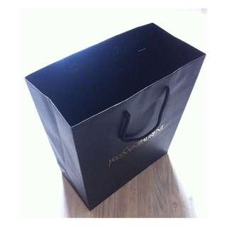 (半價) YVES SAINT LAURENT YSL Black Paper Shopping Gift Bag 紙袋 禮物袋 (Half Price)