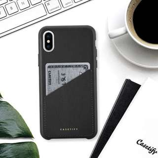 Casetify iPhone X leather case with pocket