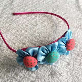 Girls' Blue Flowers Hairband (3-9 years old)