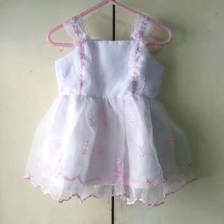 Babies' Christening Dress - Hat Included (0-6 mos)