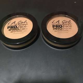 LA Girl HD Pressed Powder Soft Honey and Medium Beige