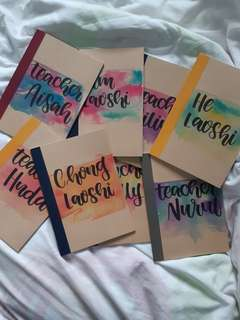 Personalised Muji Notebooks