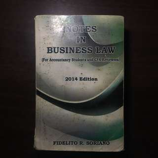 Notes in Business Law by Soriano 2014 Ed.