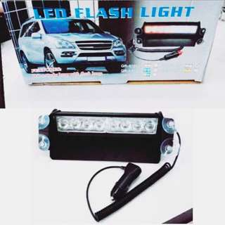 Ecer Grosir Aksesoris Interior Lampu Mobil 8 LED Strobo Lamp W/ Flash Light Ready Warna Putih Putih