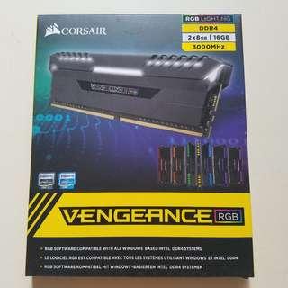 Corsair VENGEANCE RGB 3000MHZ DDR4(8GB x2)16GB行貨有盒有單