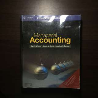Management Accounting by Warren, Reeve and Cuchac 12th Ed