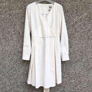 Cream Tie Back Dress