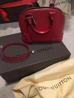 Authentic Louis Vuitton Epi Alma BB color Carmin