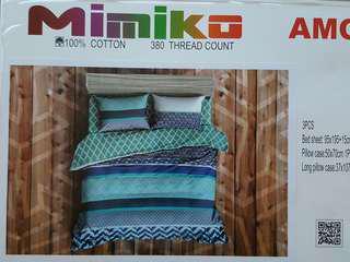 3 Pcs Mimiko Single bedsheet Set