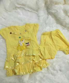 Dress kuning & biru