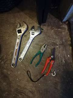 Adjustable wrench and pliers