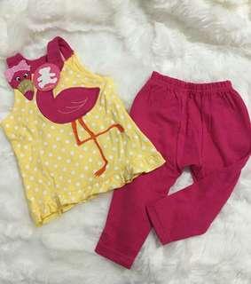 Set atasan + celana pink