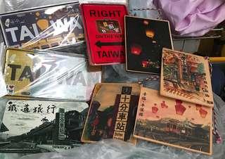 台灣 旅行 鐵牌 我愛台灣 I Love Taiwan 紀念 木牌