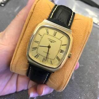 Longines automatic . We buy all branded watch bag gold