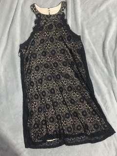Vintage Black Lace Dress