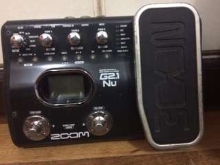 Zoom g2.1 nu multi effects guitar pedal