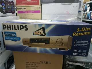 PHILIPS 5 DUSC DVD VIDEO PLAYER