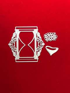 Heart hourglass #2 scrapbook Cutting Dies
