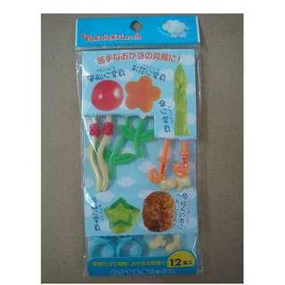 (RA 21) Food Transforming Picks Bento Lunch Box Accessory 12 pcs from Japan