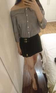 Knightsbridge 一套賣 露肩襯衫+短裙