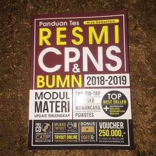 Buku panduan tes resmi untuk masuk CPNS & BUMN (free CD)