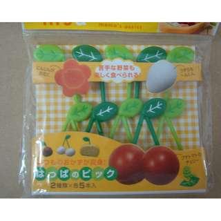 (RA 22) Torune Lunch Decoration Bento Accessory 3D Food Pick Leaf leaves