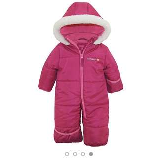 Pink Platinum Snowsuit 24m
