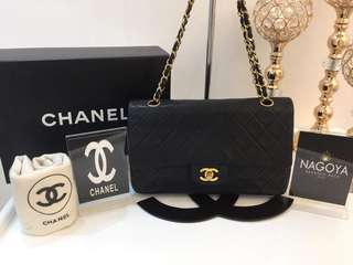 Chanel lambskin medium double flap