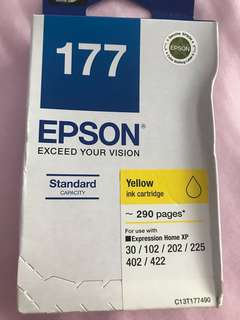 Authentic brand new Epson 177 ink (yellow)