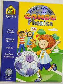 CD-ROM and Phonics Workbook (Ages 6-8) School Zone