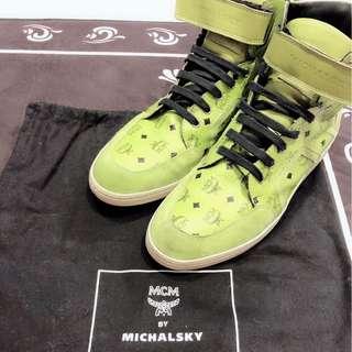 Preloved MCM high-cut sneaker