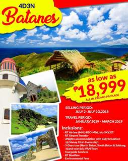 BATANES 4D3N ALL IN PROMO PACKAGE