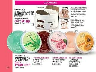 Naturals Jar Masks 75g