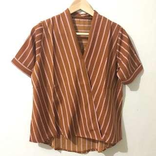Wrap Stripe Blouse