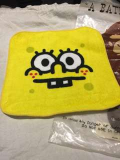 Baby milo x spongBob 手巾